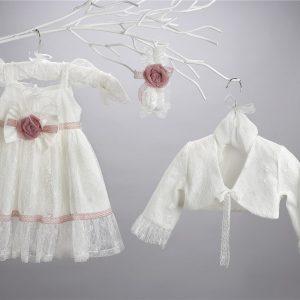 Βαπτιστικό δαντελένιο φόρεμα 2422-9