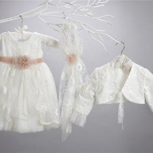 Βαπτιστικό δαντελένιο φόρεμα 2424-9