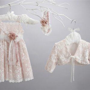 Βαπτιστικό δαντελένιο φόρεμα 2426-6