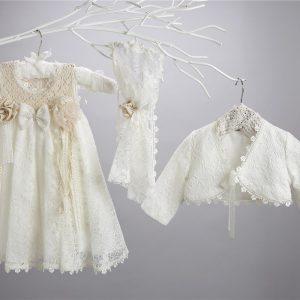 Βαπτιστικό δαντελένιο φόρεμα
