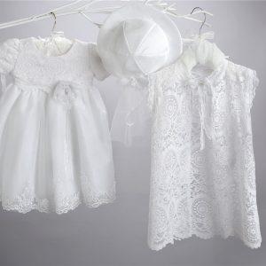 Βαπτιστικό τούλινο φόρεμα 2440-1-2