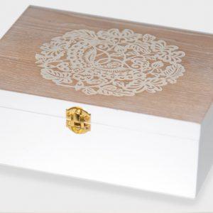 Ξύλινο κουτί ανάγλυφο σχέδιο